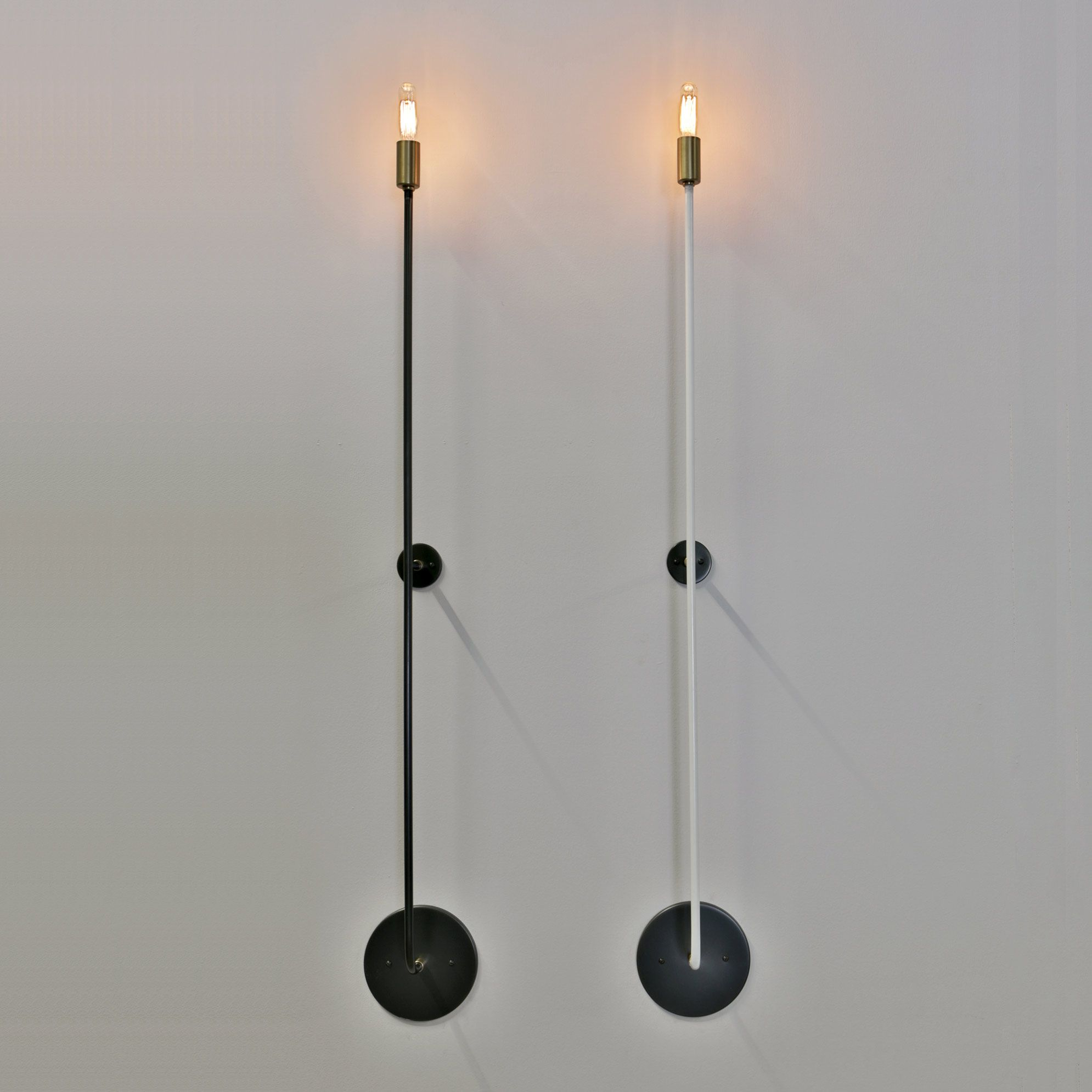 Stick Wall Light By John Beck Steel Jbsl Scb 38 Hw Steel Lighting Wall Lights Plug In Wall Lights