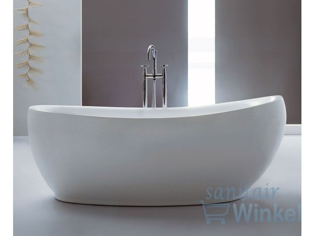 Saniclass Fama vrijstaand bad 180x85x68cm acryl wit - 6100 - Sanitairwinkel.be 1189 euro