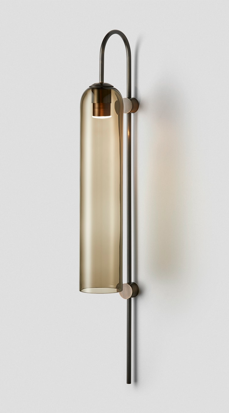 Float Wall Sconce Smoke Mid Bronze | Wall lamp design, Wall