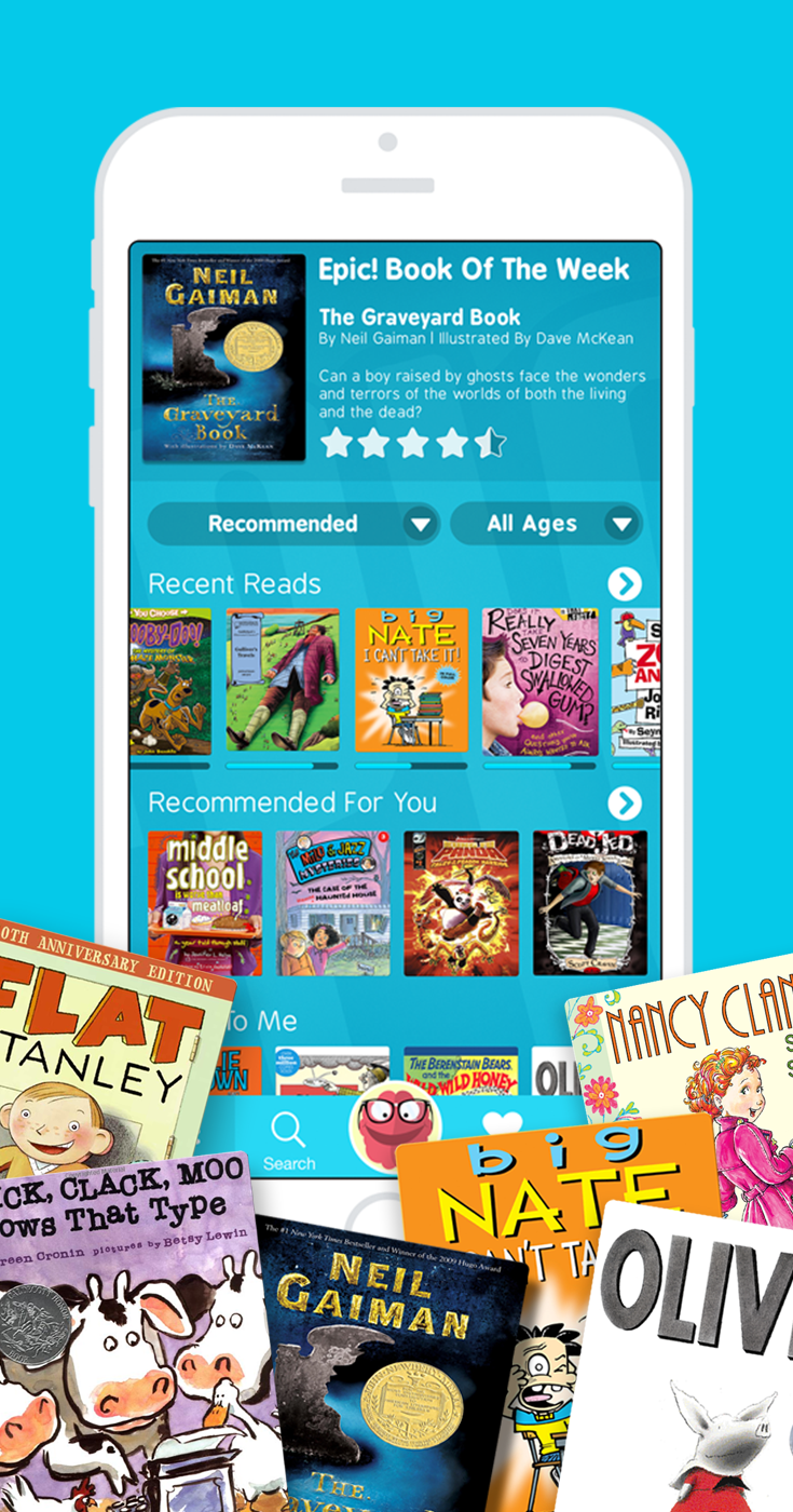 Instantly access 25,000 highquality books for kids