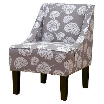 Best Hudson Swoop Chair Gray Floral Furniture Accent 400 x 300