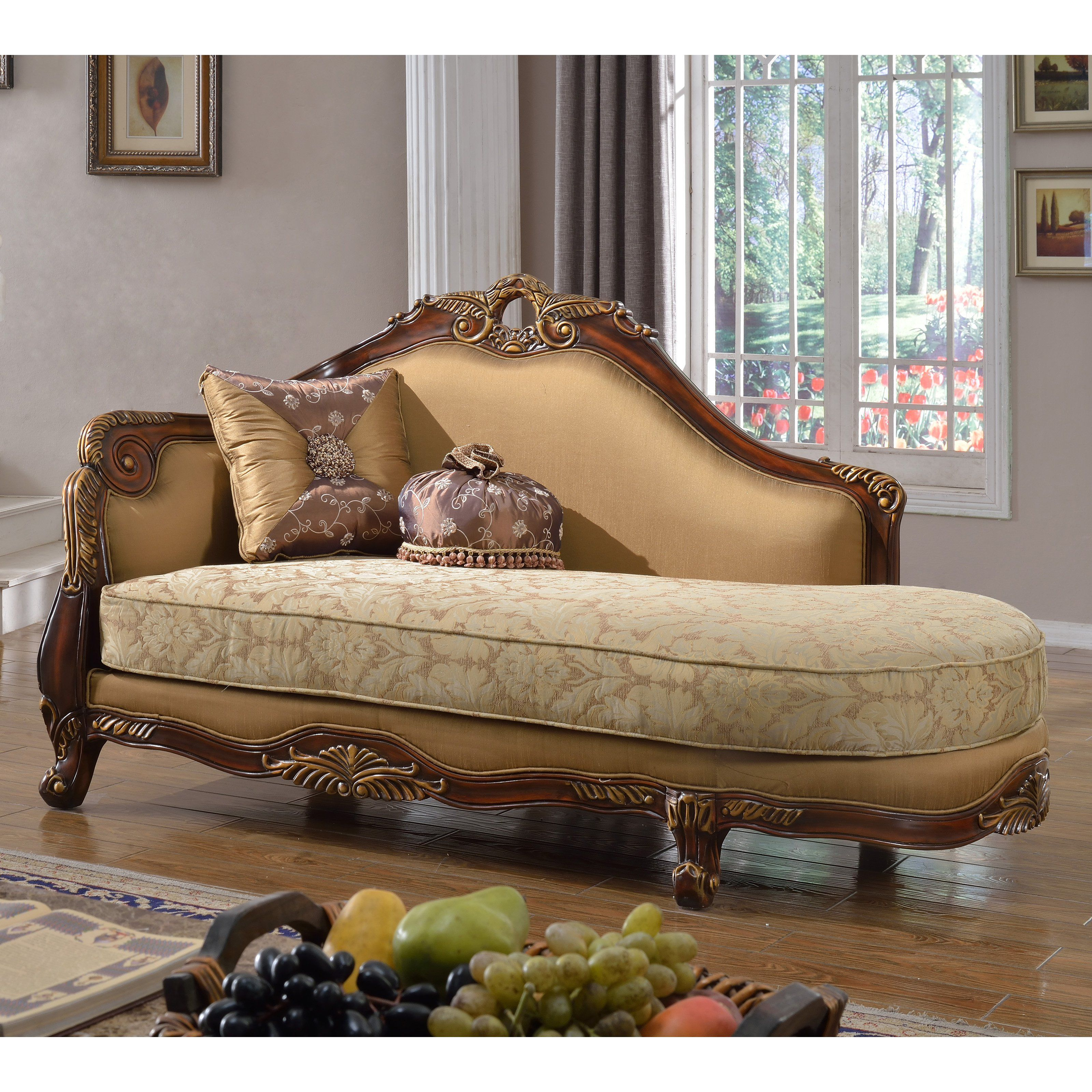 Meridian Furniture Inc Loretto Indoor Chaise Lounge   623 CH