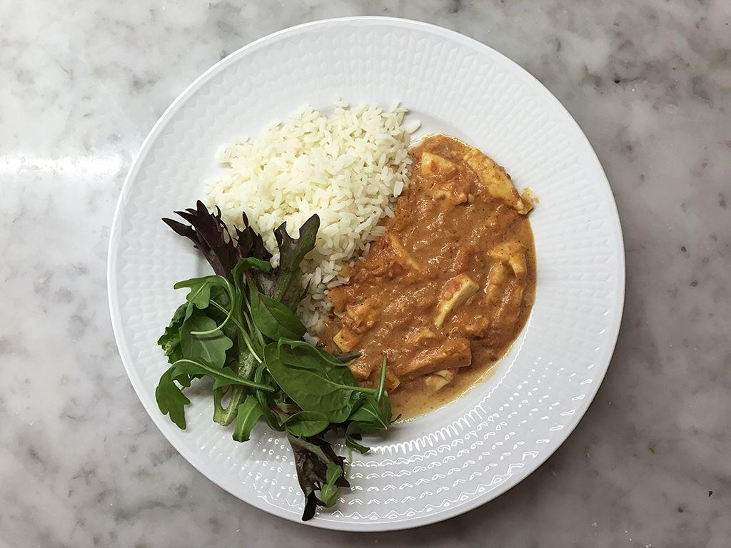 Recept: Halloumistroganoff med ris och sallad | Herr och Fru Lagergren | Bloglovin'