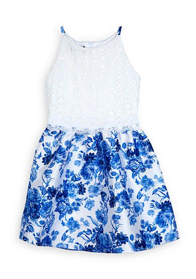 751346281c3 Amy Byer Lace and Floral Dress Girls 7-16