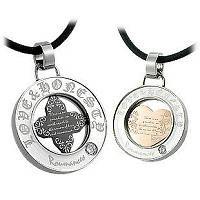 True Love Titanium Steel Matching Pair Couple Necklace