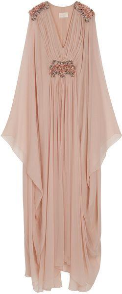 La marquise embelli caftan robe de mousseline de soie...!!!
