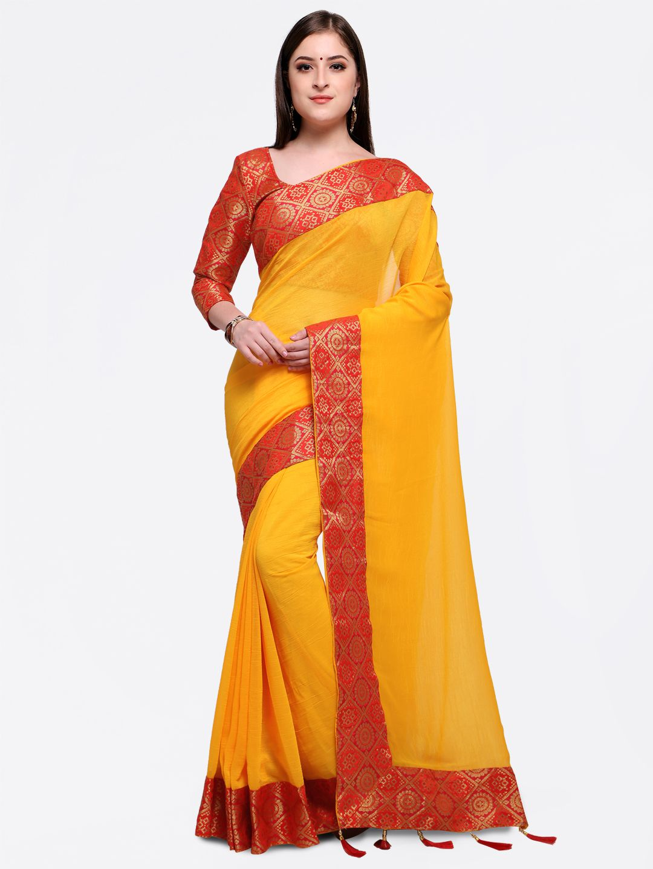 Yellow cotton saree for wedding pin by joshindia on yellow saree in   pinterest  yellow