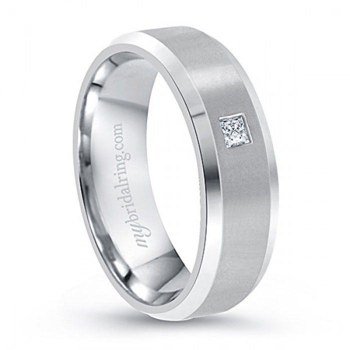 Pin On Mens White Gold Wedding Bands With Diamonds