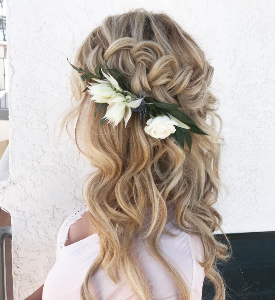 10 Glamorous Half Up Half Down Wedding Hairstyles From: Beautiful Braided Half Up Half Down Hairstyle
