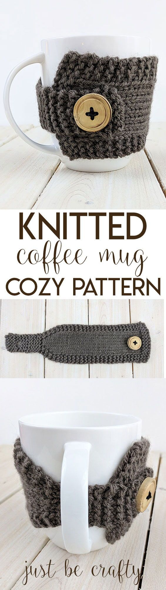 Knitted Coffee Mug Cozy Pattern - Free pattern by   My hobby is ...