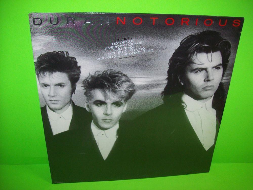 Duranduran Newwave Synthpop Duran Duran Notorious 1986 Vinyl