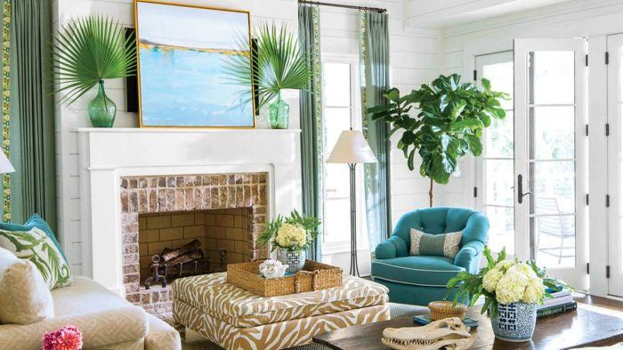 einrichtungsbeispiele maritime deko krake blau wohnzimmer - wohnzimmer deko blau
