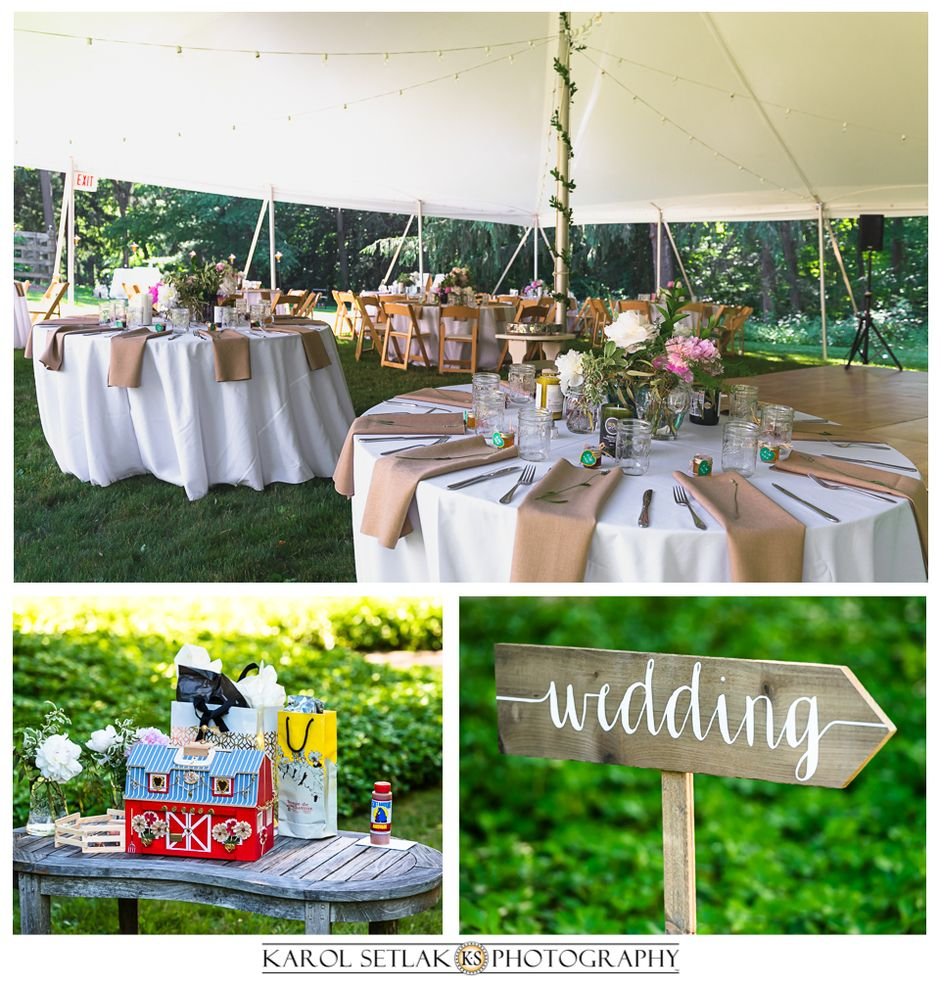 wedding decor ideas summer reception table decorations backyard