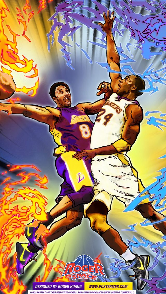 Kobe 8 vs Kobe 24 Wallpaper Posterizes NBA Wallpapers