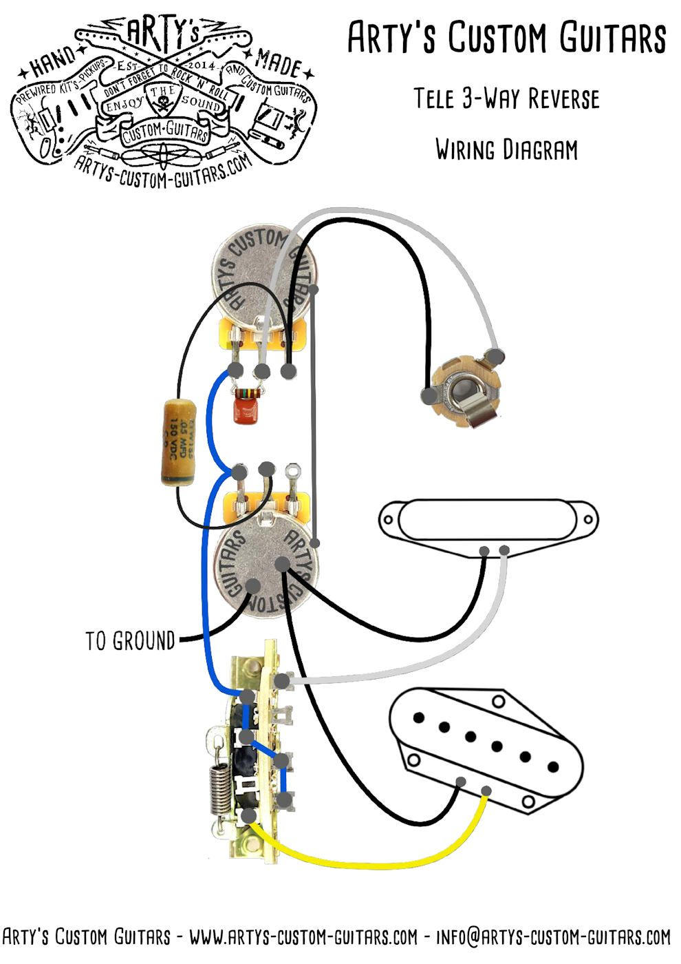 telecaster 3 way reverse wiring diagram arty s custom guitars [ 990 x 1400 Pixel ]