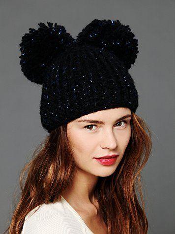 crochet beanie 2 pon pon - Cerca con Google Gorras Negras 6a63a55e54d