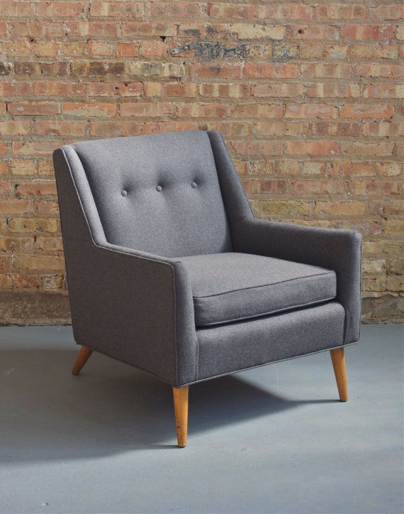 Beau Mid Century Modern   Mad Men Danish Style Low Club / Lounge Chair    Reupholstered   Charcoal Gray Wool   50s 60s On Etsy, 489,64 U20ac