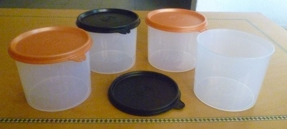 Tupperware Free Shipping New Canisters With Lids Set 4 Cap 2 1 2 Cups E O Tupperware Tupperware