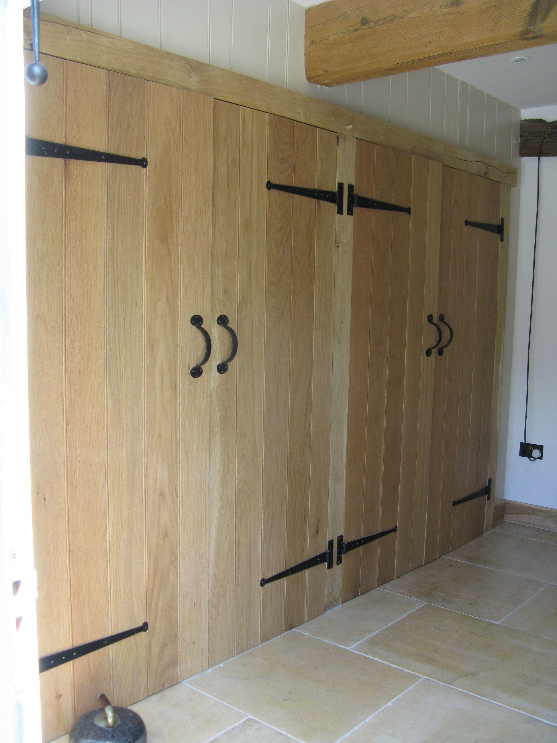 Ledge and brace oak doors - Solid Oak Ledge And Optional Brace Doors Converted Into Useful Cupboard Storage Ledge