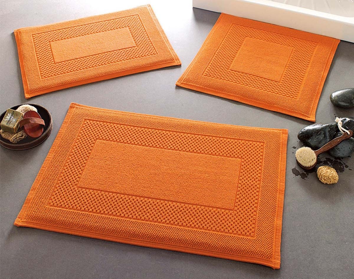 orange bathroom accessories | 《》cool home decor《》 | pinterest