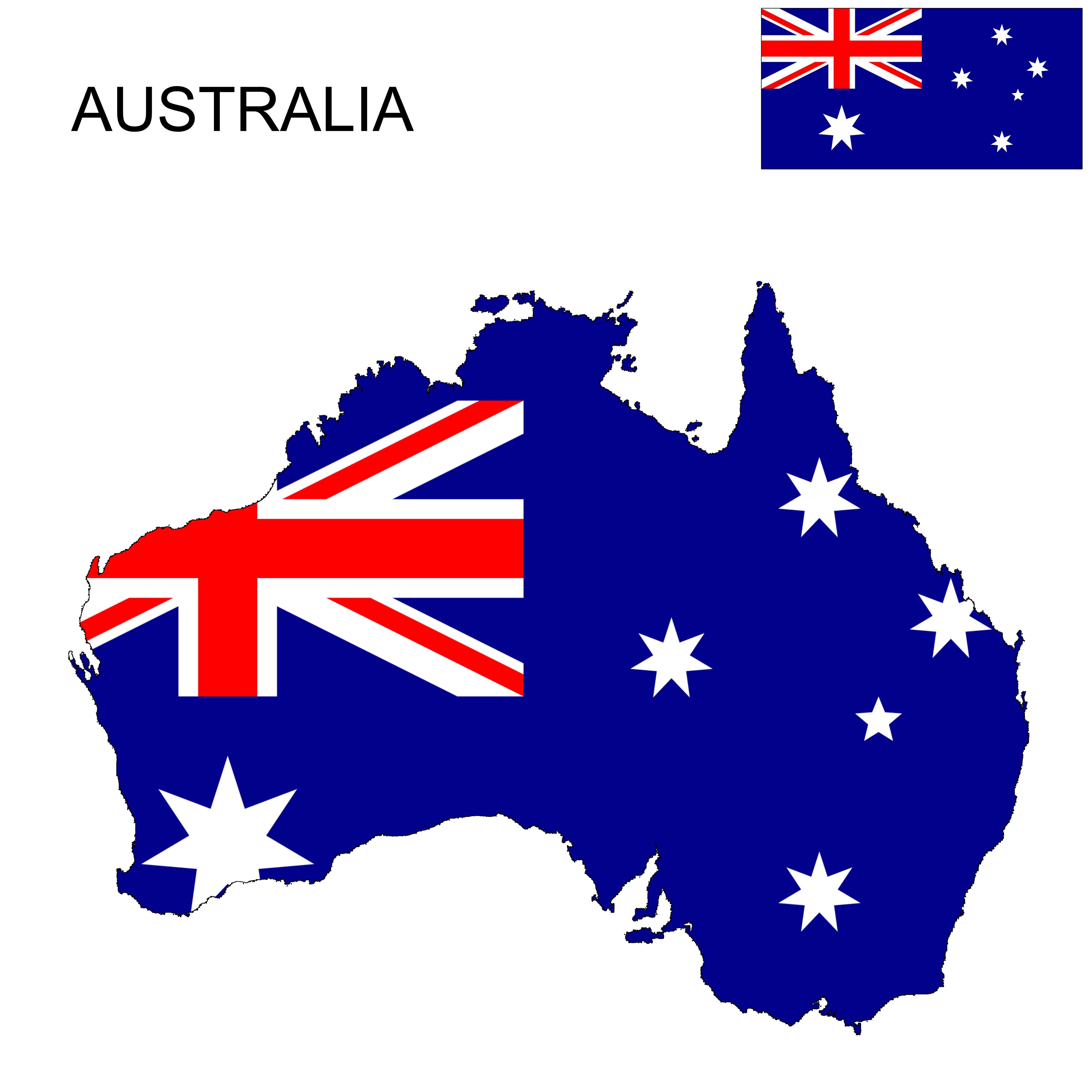 Australia flag map australia flag australia map