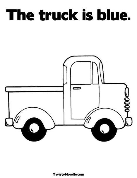 The Truck Is Blue Coloring Page Truck Coloring Pages Little Blue Trucks Truck Crafts