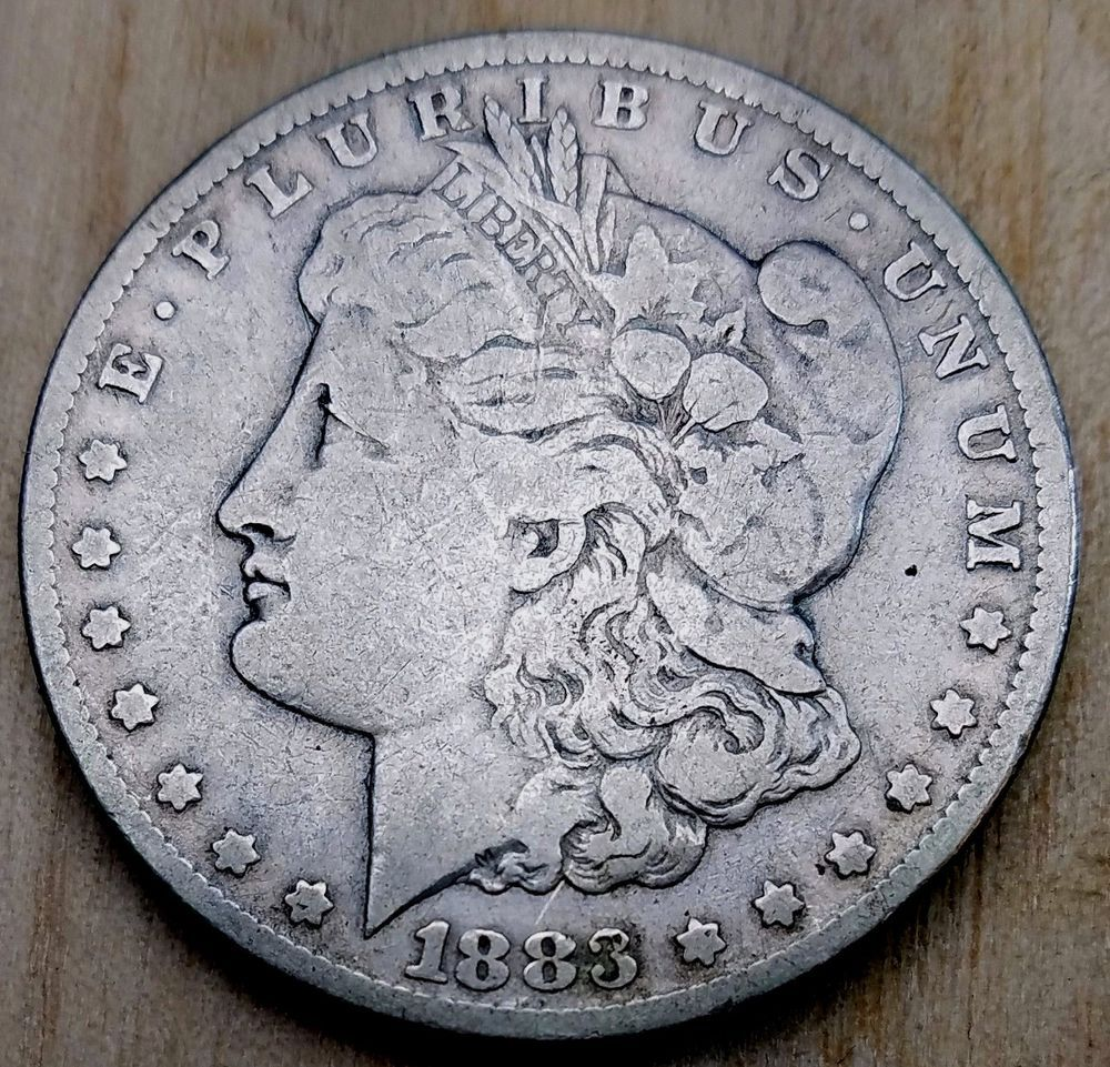 1883 Cc Morgan Dollar Very Good Km 110 Free Usa Ship Carson City C C Vg Morgan Dollars Morgan Silver Dollar Coins