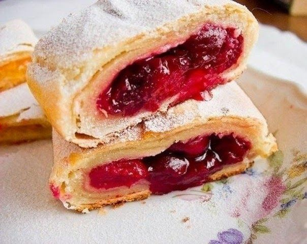 Austrian Strudel With Cherries Recipe ~ Food Network Recipes  For PDF readers : To download this Strudel Recipe in PDF format Click here: http://pdfcast.org/pdf/strudel-recipe