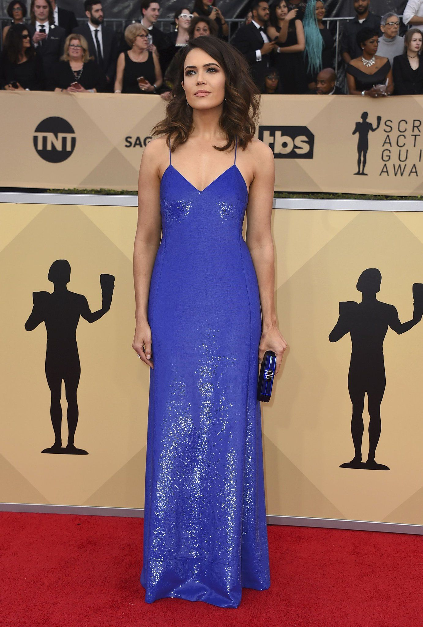 6471032f7353 Mandy Moore in Ralph Lauren attends the 24th Annual Screen Actors Guild  Awards. #bestdressed