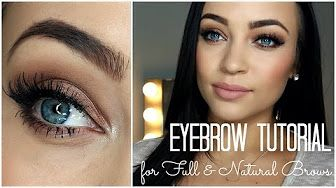 how to do eyebrows with eyeshadow for beginners - YouTube