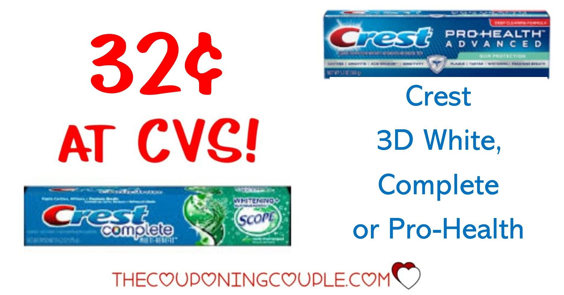 Crest Toothpaste FOUR Tubes FREE at CVS! in 2020 Crest