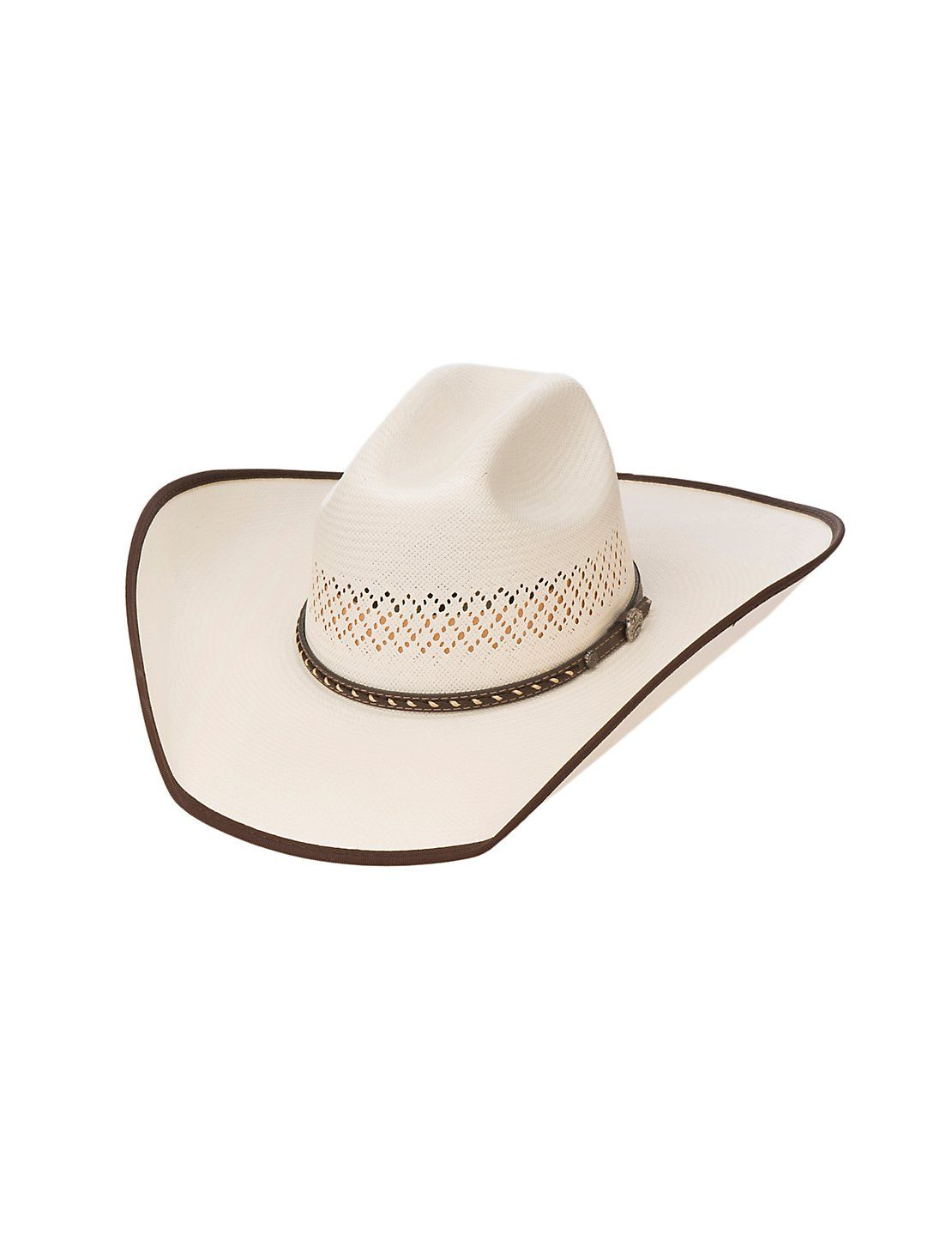 Cavender s Cowboy Collection 10X Ivory Vented Crown Straw Hat  d15c71ada323