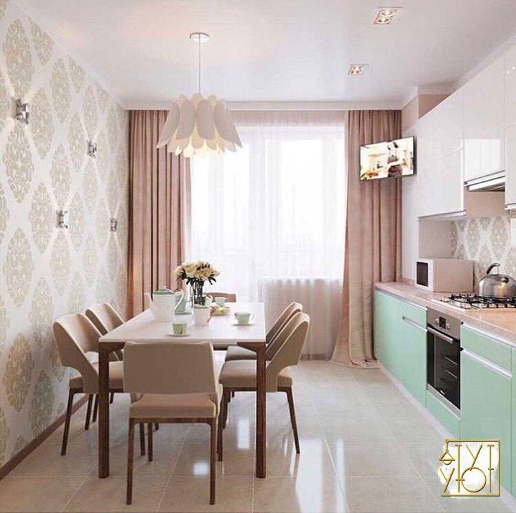 Кухня в пастельных тонах👌... ----- #home #проекты #дом # ...