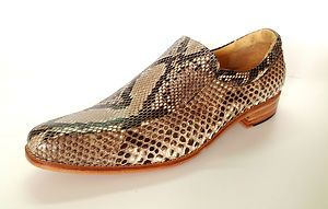 CUSTOM AUTHENTIC PYTHON SNAKE SKIN LEATHER LOAFER DRESS MEN SHOES