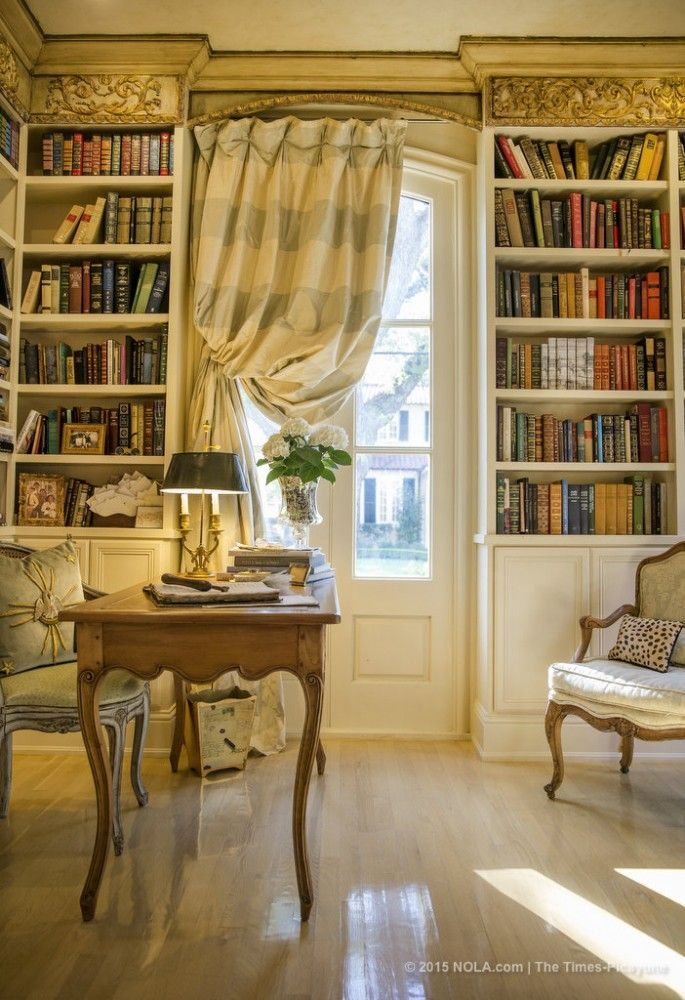 16 Spectacular Home Libraries That Will Give You Shelf Envy is part of Formal Living Room French Country - You'll swoon over 7!