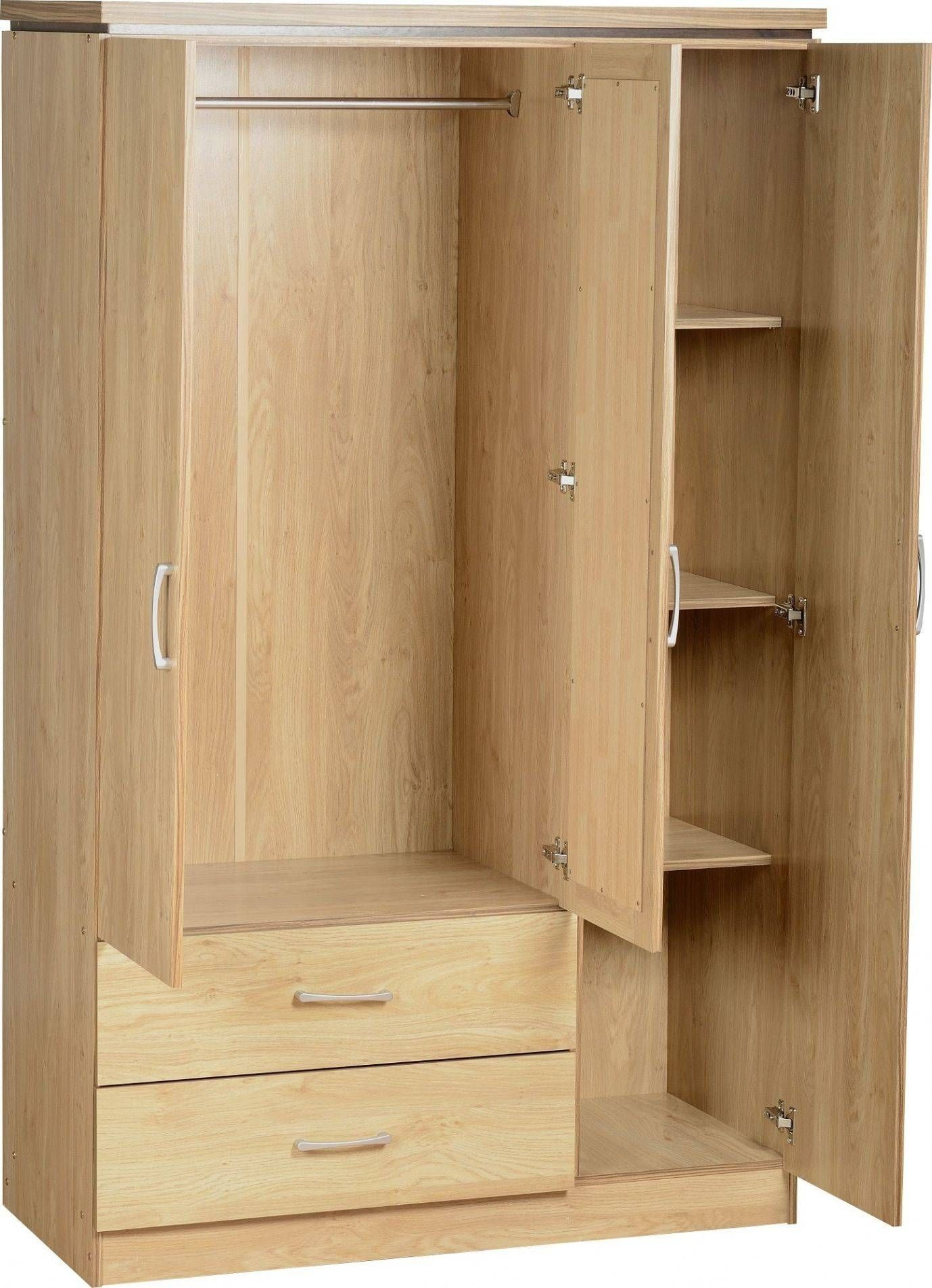 3 Door Wardrobe With Drawers And Shelves For The Home In