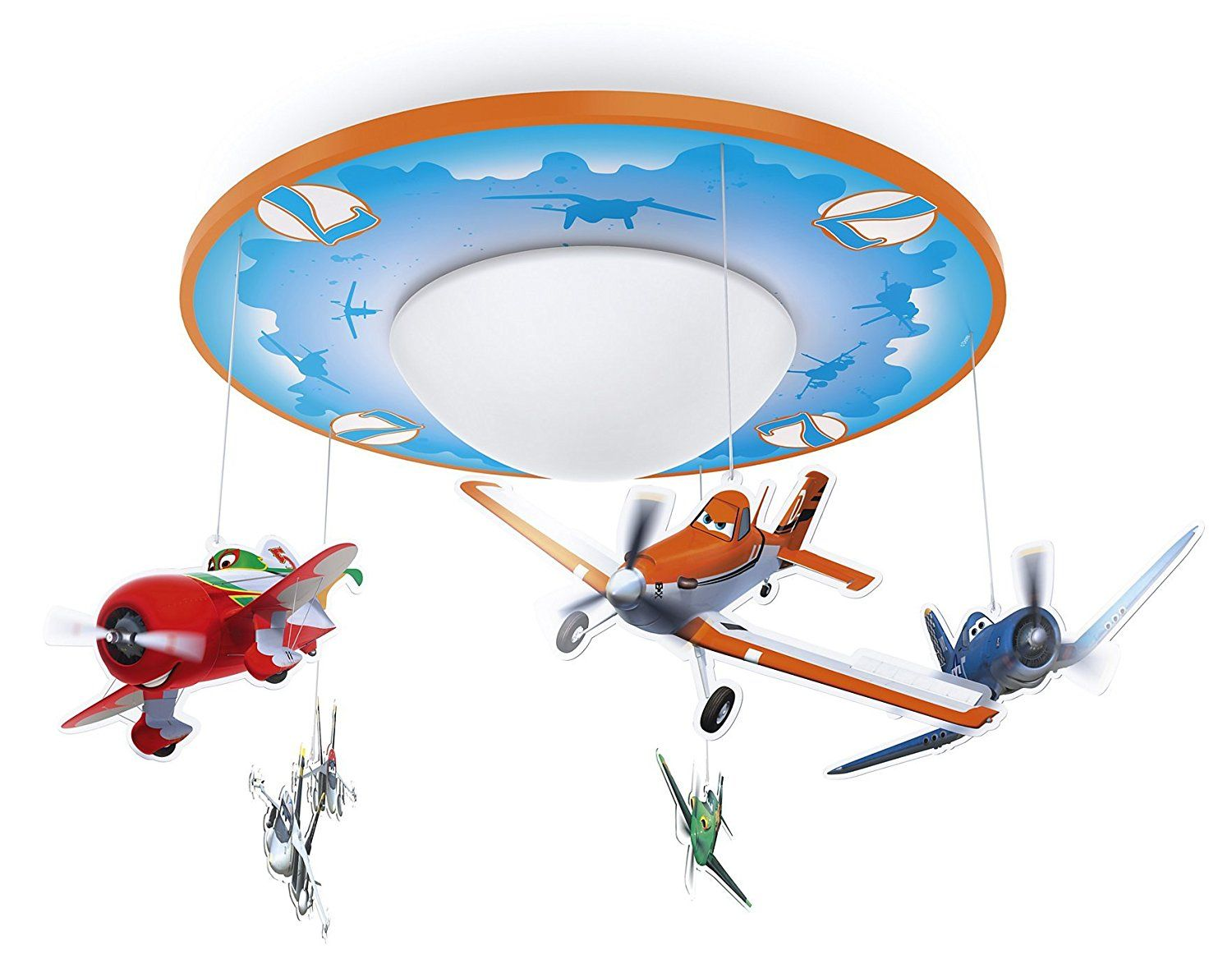 Kinderlampe Led Philips Disney Planes Led Deckenleuchte Orange Blau Tolle