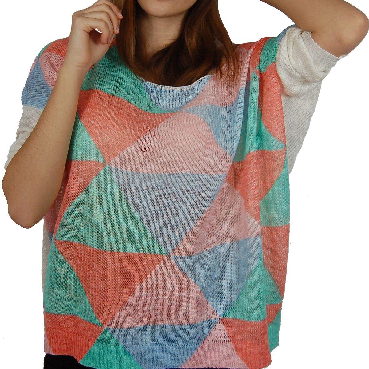 Pull ample coupe loose multicolore. http://milena-moda.com/