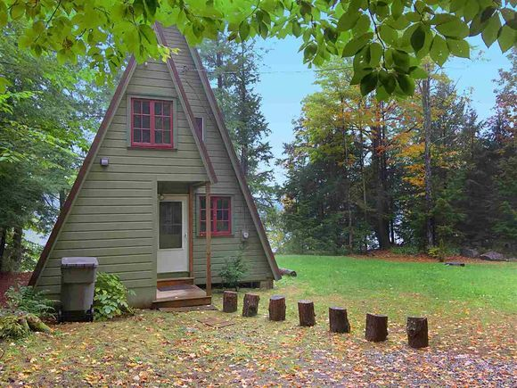 Fort Ann, NY - Lakefront A-frame cabin measures at only 560 square feet, asks $194,900.   http://www.estately.com/listings/info/3214-eastside-rd