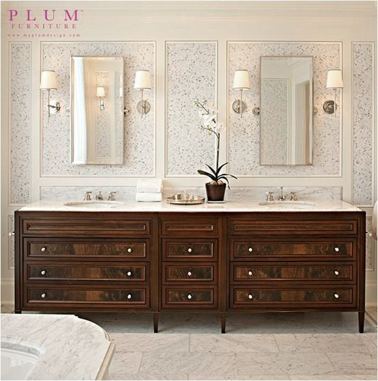 Dark Stained Bathroom Vanity