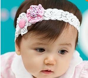 01971743fed 1PC Flower Headband Children Headwear Pearl Infant Toddler Girls Headbands  Kids Hair Bands