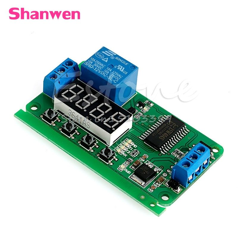 Relay Module Science Supplies Delay Time Module Multifunction Switch Control Relay Cycle Delay Timer Module DC 12v