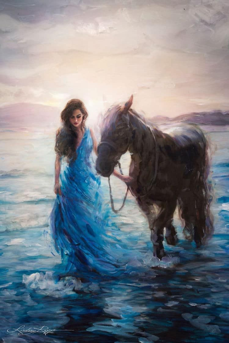 Interview: Painter Visualizes Powerful Women as Goddesses of the Sea #artanddrawing