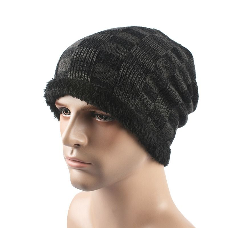 49703c9eced Click to Buy    Brand Male Female Autumn And Winter Hats Worn Bonnet Thick  Warm Cap Knitted Caps Men And Women Beanie Hat Hedging  Affiliate