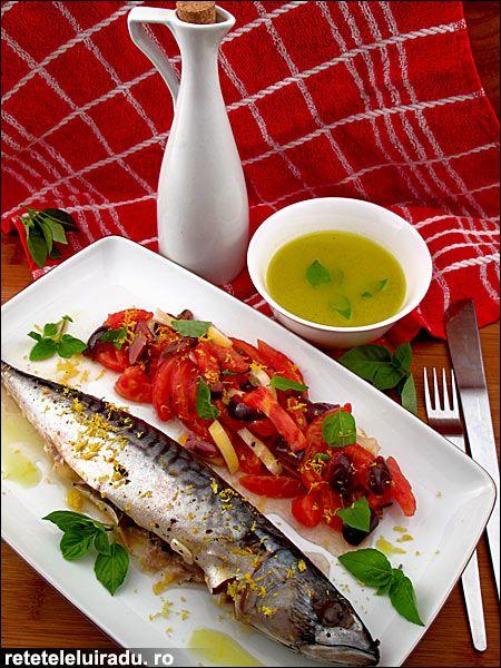 Tomatoes & olives mackerel