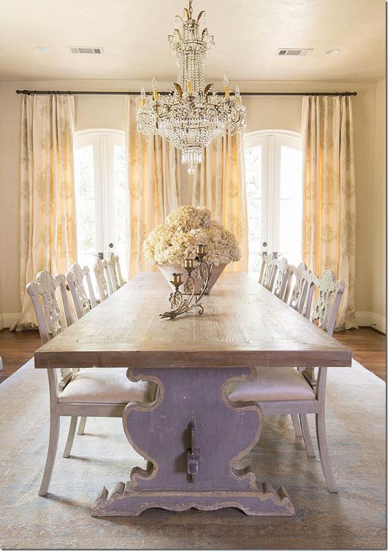 Custom Italian Trestle Tables   Dining Rooms   Elegant ...