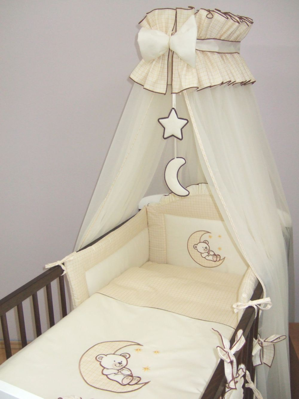 5 piece baby cot bed bedding set moon cot 120 x 60cm