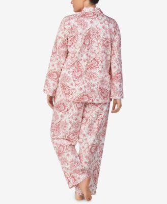Lauren Ralph Lauren Plus Size Cotton Knit Pajama Set - Red Paisley ... 6cecdaa81