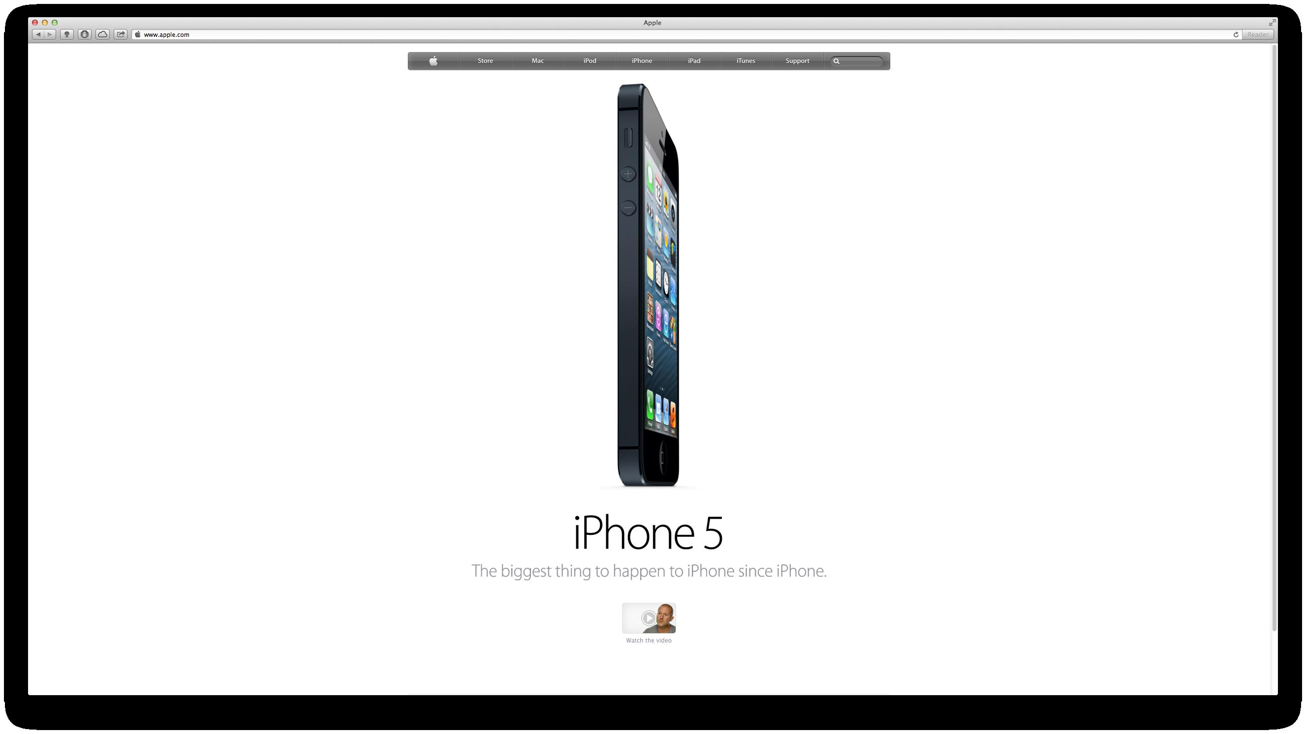 Minimalist web-design... can't wait to get mine... #iPhone5 http://www.apple.com/iphone/