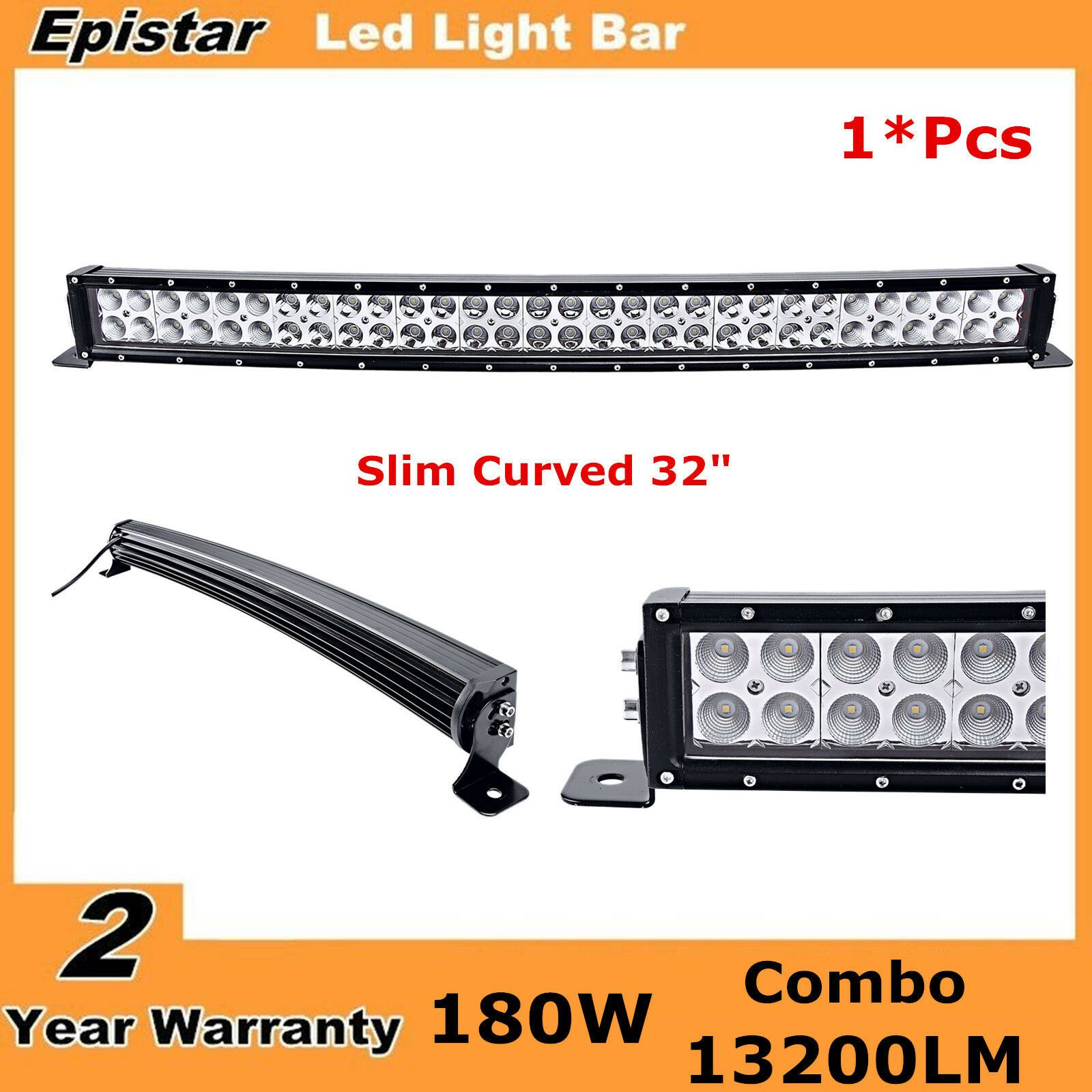 Curved 32 Inch 180w Led Combo Lamp Work Light Bar Ford 4wd Drl Offroad Suv 30 34 In 2020 Bar Lighting Work Lights Curved Led Light Bar